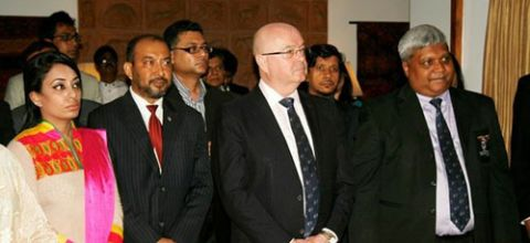 With British High Commissioner in Bangladesh